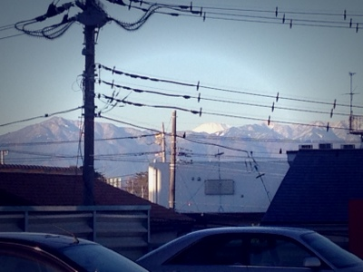 冬の晴れた日は..