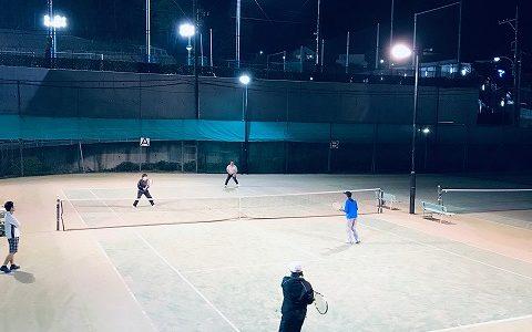 八王子テニススクール 土曜ナイター打ち込み練習会